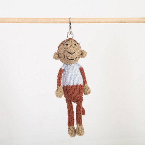 津巴布韋針織匙扣 (猴子) Zimbabwean Knitted Key Ring (Monkey)