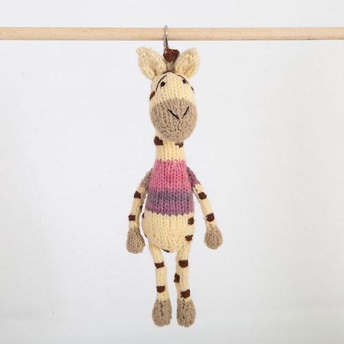 津巴布韋針織匙扣 (長頸鹿) Zimbabwean Knitted Key Ring (Giraffe)