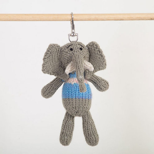 津巴布韋針織匙扣 (小象) Zimbabwean Knitted Key Ring (Elephant)