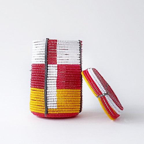 肯亞彩珠盒 (小) Kenyan Bead Box (Tall)