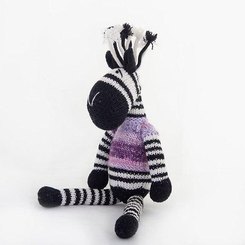 津巴布韋針織公仔 (斑馬) Zimbabwean Knitted Toy (Zebra)
