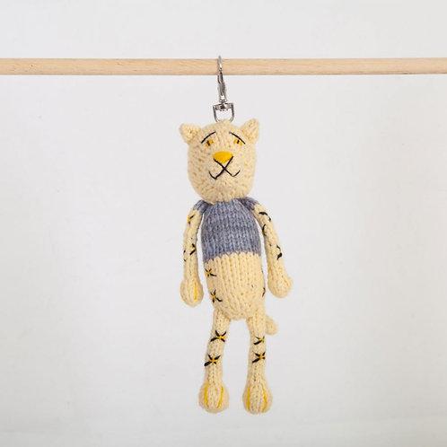 津巴布韋針織匙扣 (小豹) Zimbabwean Knitted Key Ring (Leopard)
