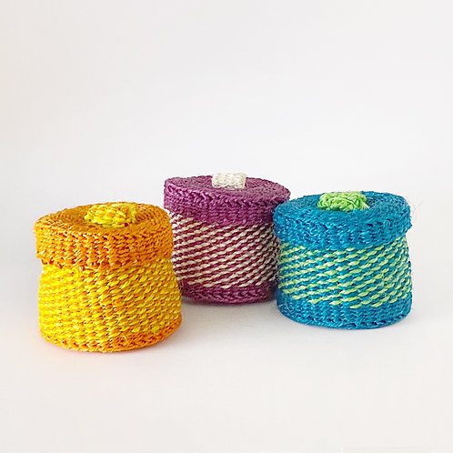 劍麻小盒子 (彩色) Sisal Container (Multi-Coloured)