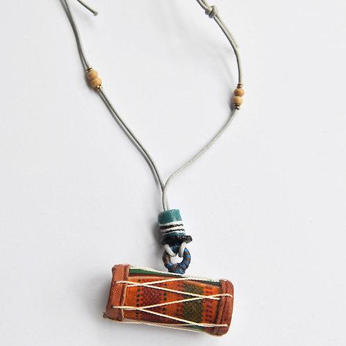 迷你鼓吊墜頸鍊 Mini Drum Necklace (Talking Drum)