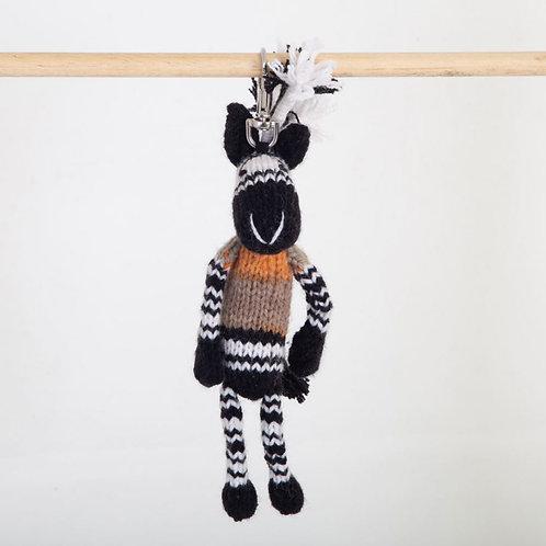津巴布韋針織匙扣 (斑馬) Zimbabwean Knitted Key Ring (Zebra)