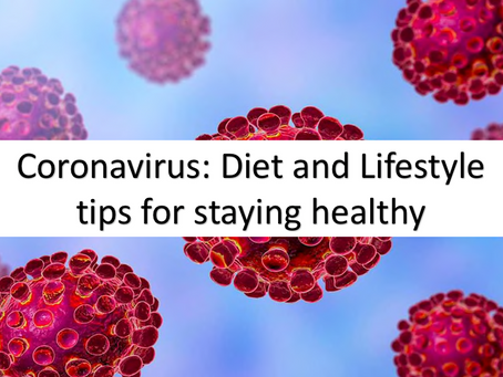 Coronavirus: Diet and Lifestyle tips for staying healthy