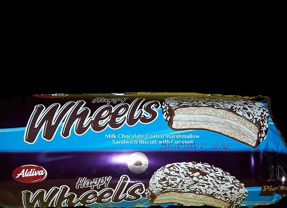 Aldiva Happy Wheels Marshmallow Sandvic Kiks Med Mælk Chokolade&Kokos 220g