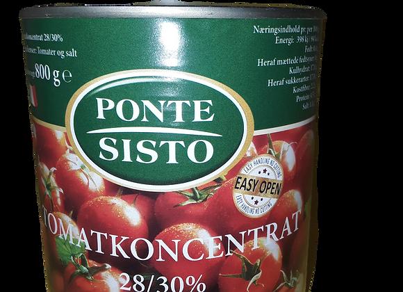 PONTE SISTO TOMATKONCENTRAT 28/30% , 12X800 G EASY OPEN**