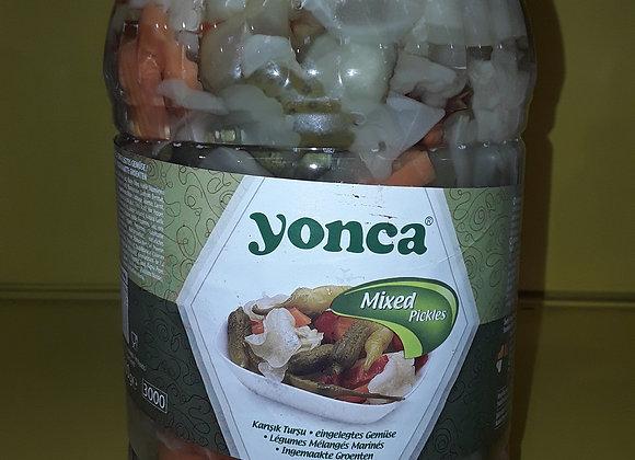 Grønsager blandet syltede 3kg pr stk