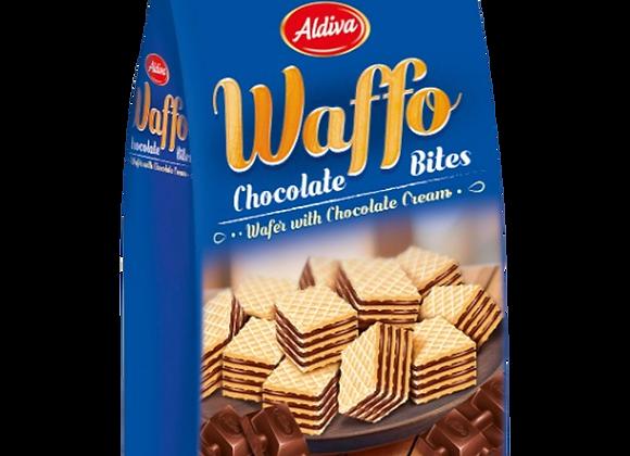Waffo Bites Cube Vafler Med Chokolade Kream 200g