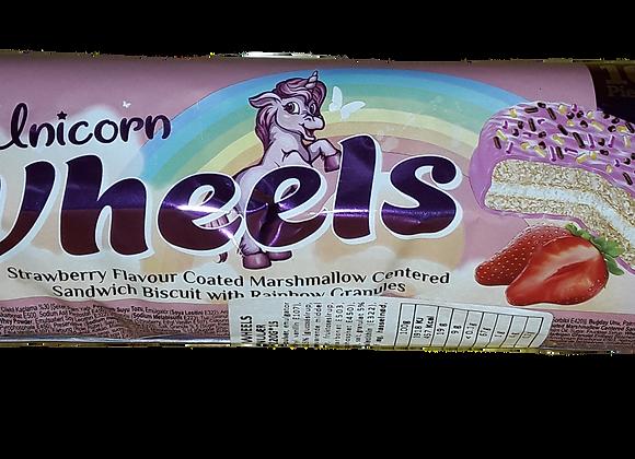 Aldiva Unicorn Wheels Marshmallow Sandvic Kiks Med Jordbær Aroma&Kornet 220g