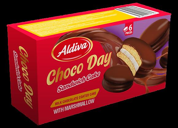 Aldiva Choco Day Sponge Kage Chokolade Marshmallow 150g