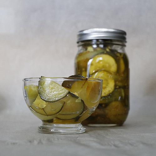 Zucchini Slice Bread and Butter Pickle