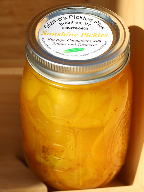 Sunshine Pickles with Turmeric!