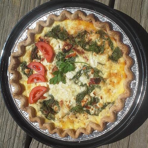 Basil, Tomato, Spinach Quiche