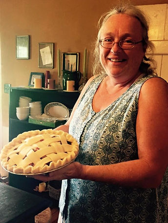 Evelyn baking Pies for Farmers Markets
