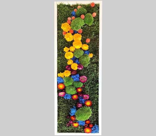 Blütenbild 25x80 cm