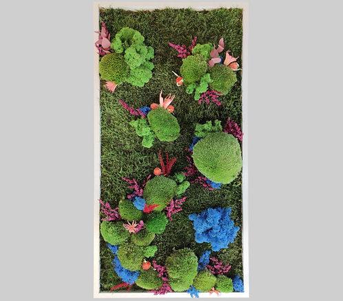 Blütenbild 40x80 cm