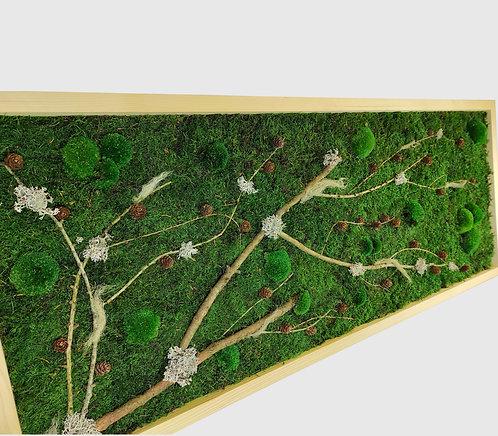 Moosbild 140x55 cm