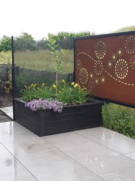corten steel screen