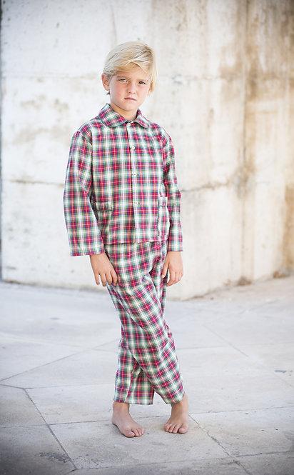 Pijama niño cuadros