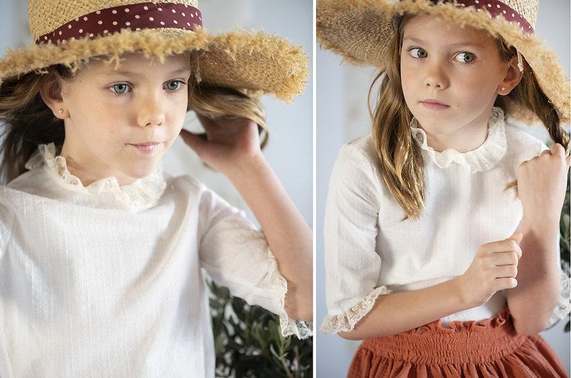 Falda Clotilde. Camisa Rita. Teresa&Leticia. Ropa de niños. Arras. Pajes. Primeras Comuniones.