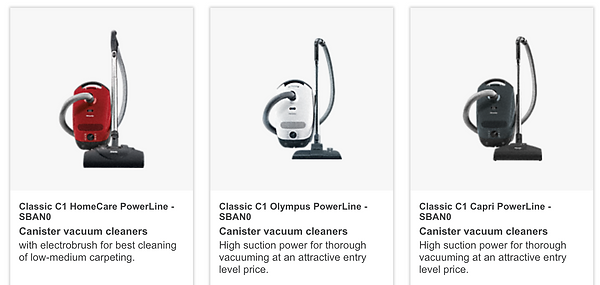 Miele Classic Canister vacuum cleaners in Pinole CA