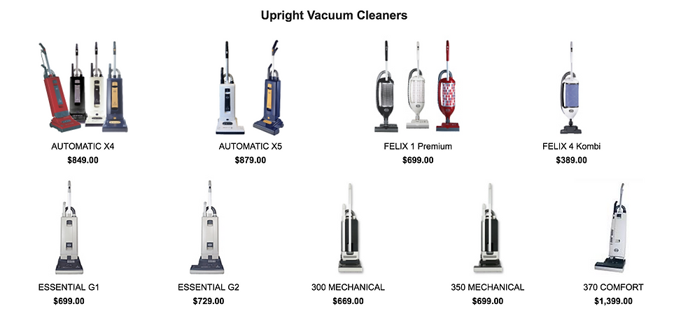 SEBO Upright Vacuum Cleaner Dealer in Hercules CA