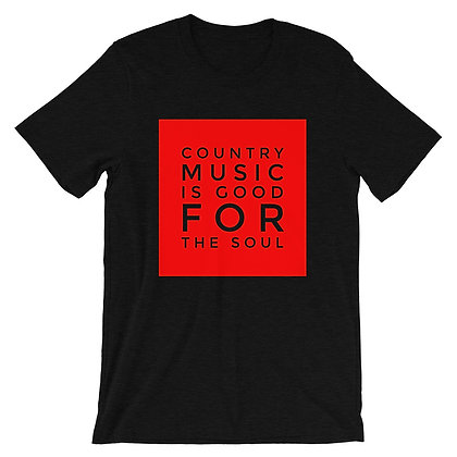 """""""Country Music Soul"""" T-Shirt Red/Blk"""