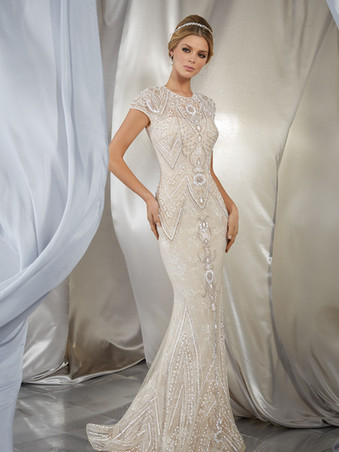 Musidora by Morilee | Great Gatsby Art Deco Bridal Gown