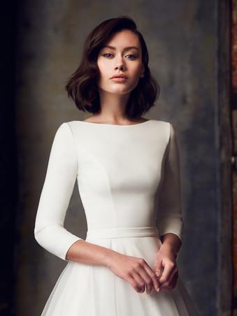 2308 by Mikaella | Classic Long Sleeve Ballgown | Rebecca's