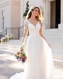 Stella York Long Sleeve Affordable Wedding Dress at Rebecca's