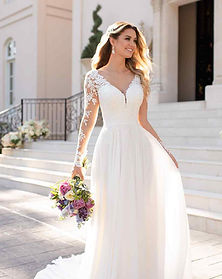 Stella York Long Sleeve Affordable Wedding Dress at Rebecca's