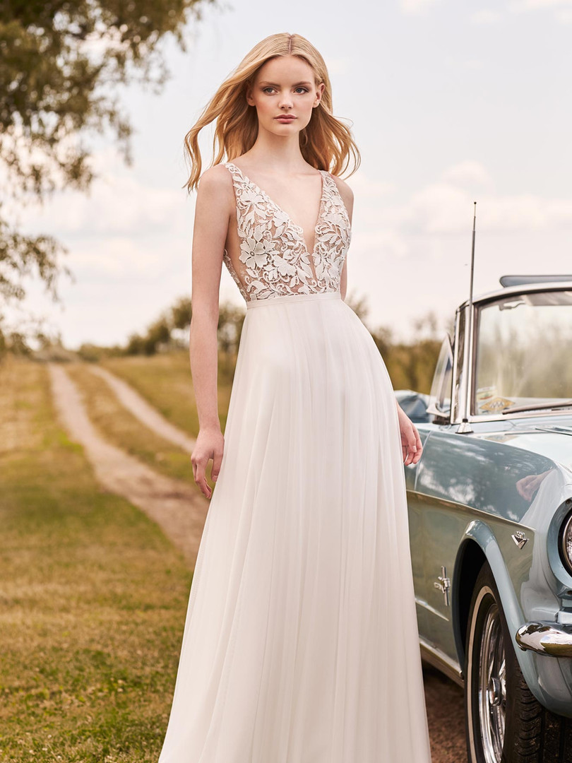 2296 Mikaella | Tulle and Lace A-line