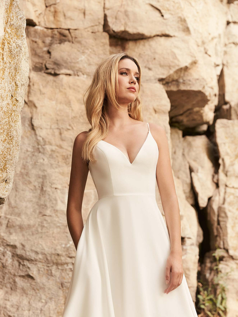 2327 Mikaella | Simple Crepe A-line