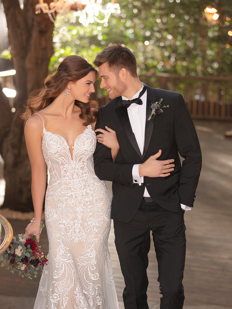 2771 Essense | Fitted Beaded Lace