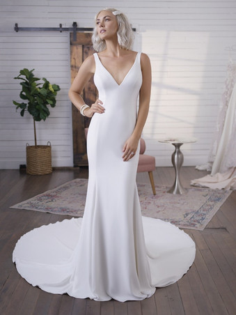 Fernanda by Maggie Sottero | Simple and Classic Crepe Wedding Dress
