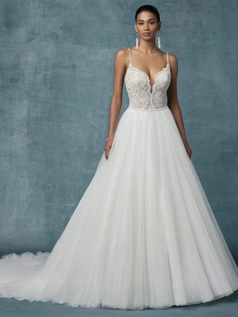 Maggie Sottero Mallory | Lace and Tulle Ballgown