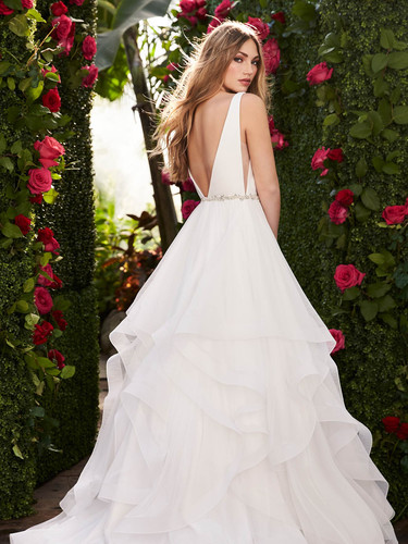 2255 by Mikaella | Simple, Layered Ballgown Wedding Dress | Rebecca's