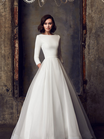 2308 by Mikaella | Classic Long Sleeve Ballgown | Rebecca's