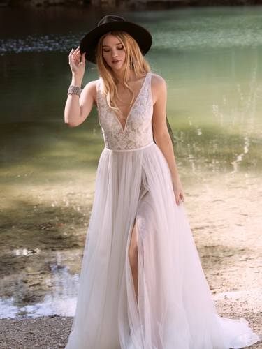 Spencer by Willowby | Simple A-line Boho Bridal