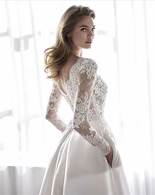 Lace Long Sleeve Ballgown by St. Patrick Pronovias at Rebecca's Louisville