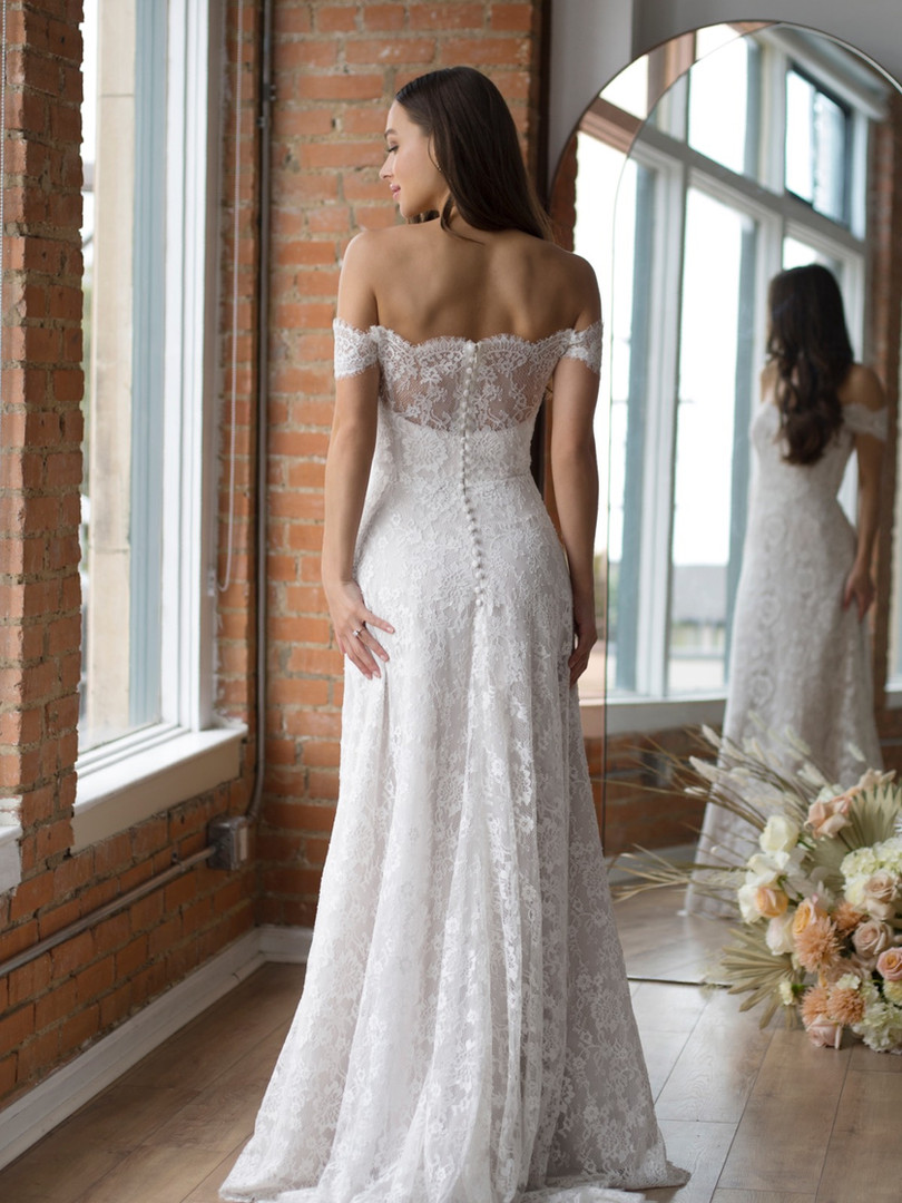 Baxon by Wtoo | Off The Shoulder Lace Wedding Dress
