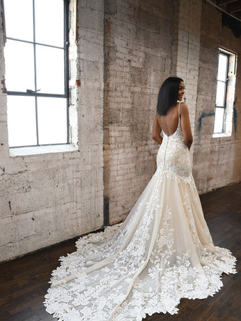 1301 Martina Liana | Sexy Fitted Floral Gown with Epic Train