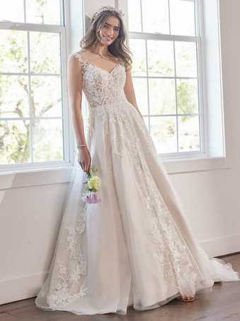Tiffany by Maggie Sottero   Classic Lace Wedding Dress