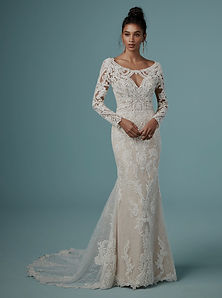 Maggie Sottero Cheyenne Long Sleeve Lace Boho Wedding Dress