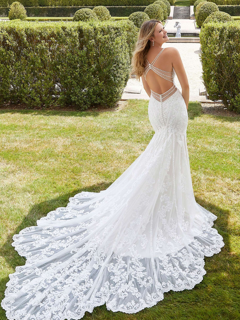 Blaire by Morilee   Sexy Open Back Lace Wedding Dress