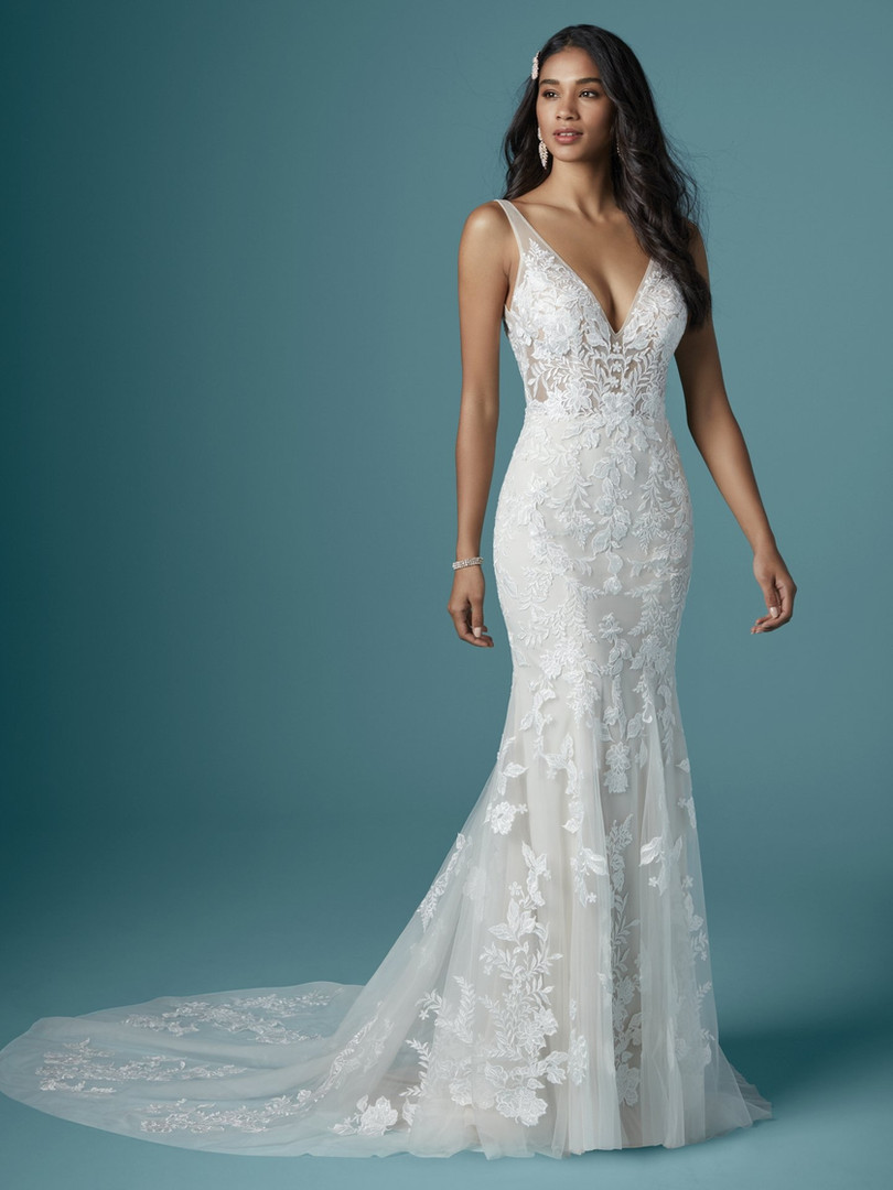 Maggie Sottero Greenley | Fitted Floral Lace