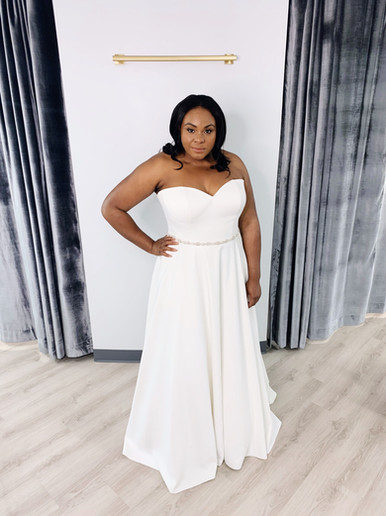 Strapless Plus Size Wedding Dress