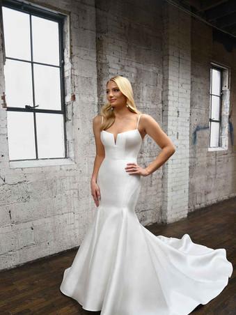 Martina Liana 1387 | Modern, Simple Silk Wedding Dress